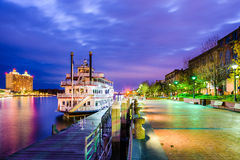 Savannah, Geogia Riverfront Promenade Stock Photo