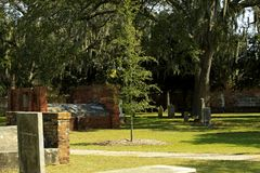 Savannah Georgia Cemetery. Final resting place since 1789 for Savannah citizens, including Declaration of Independence signer stock photos