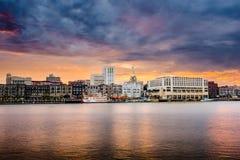 Savannah Georgia Cityscape Stockbilder