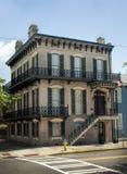 Savannah Georgia Corner House historique Photos stock