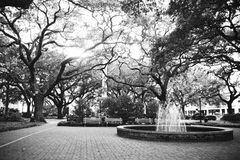 Savannah Georgia Historic Square in the Summertime Royalty Free Stock Images