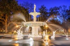 Savannah Georgia Park. Savannah, Georgia, USA at Forsyth Park fountain stock images