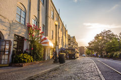 Savannah georgia river street scenery Stock Photo