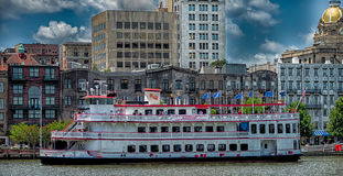 Savannah Georgia USA downtown skyline Royalty Free Stock Image