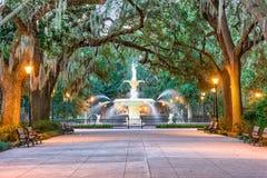 Savannah Georgia Fountain stock images
