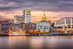 Savannah, Georgia, USA Skyline Stock Image