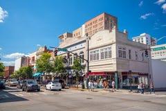 Savannah Georgia van de binnenstad de V.S. Stock Foto's