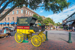 Savannah Georgia van de binnenstad de V.S. Royalty-vrije Stock Foto's