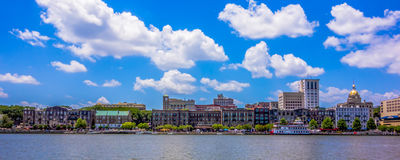 Savannah georgia waterfront scenes stock photo