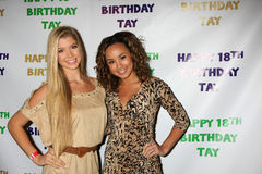 Savannah Jayde. LOS ANGELES - OCT 21:  Allie deBerry, Savannah Jayde arriving at Taylor Spreitlers 18th Birthday Party at the Crimson on October 21, 2011 in Los Royalty Free Stock Images