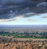 Savannah landscape in the National park in Kenya Stock Photo