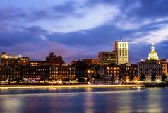 Savannah på skymningen Royaltyfria Bilder