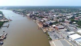 Savannah River video aérea almacen de metraje de vídeo