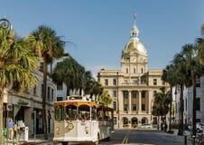 Savannah Tour And City Hall Stock Photo