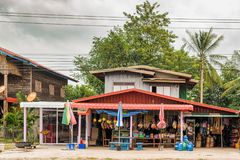 Store at the road to Savannakhet, Laos. Royalty Free Stock Images