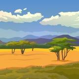 savanne Es kann für Leistung der Planungsarbeit notwendig sein Berge Stockbild