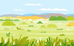 Savannen-Landschaftsnatur-Hintergrund Lizenzfreie Stockbilder