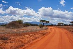 Savanneweg Royalty-vrije Stock Afbeeldingen