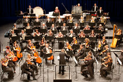 Savaria交响乐团的乐队执行 库存照片