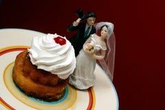 Savarina - huwelijksmenu Stock Foto