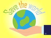 Save światowego papieru wektoru głęboko ciącego styl obrazy royalty free