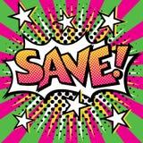 SAVE! Λαϊκό σχέδιο κειμένων τέχνης Στοκ εικόνα με δικαίωμα ελεύθερης χρήσης