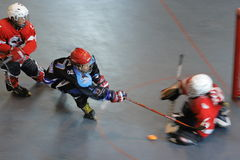 Save it. Team IceMan VS Stags in 2008 Hong Kong Inline Cup (Youth) inside YMCA King's Park Centenary Centre Royalty Free Stock Photography