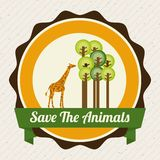 Save the animals design Stock Images