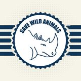 Save the animals design Stock Photography