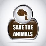 Save the animals design Royalty Free Stock Image