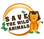 Save the animals design Royalty Free Stock Images