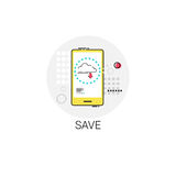 Save App Data Storage Cell Smart Phone Icon Royalty Free Stock Images