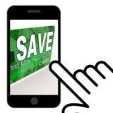 Save Bank Card Displays Savings Account And Money Reserves Stock Image