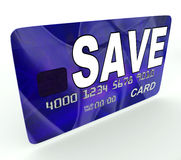 Save Bank Card Means Financial Reserves. Save Bank Card Meaning Financial Reserves And Savings Account Stock Image