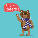 Save bears illustration Royalty Free Stock Photos