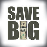 Save Big sale artwork Royalty Free Stock Images