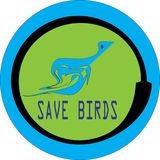 Save birds profile round icon IMAGE Royalty Free Illustration