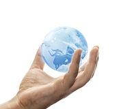 Save the blue earth Stock Photography