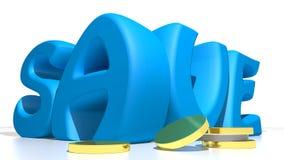 Save blue Stock Photo