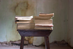 Save the books. The books, all the stories of the world Royalty Free Stock Photo