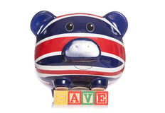 Save british piggy bank Royalty Free Stock Photo