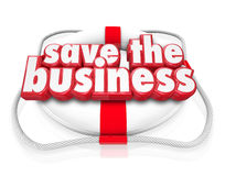 Save the Business 3d Words Life Preserver Company Rescue Stock Photos