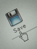 Save button Royalty Free Stock Photo