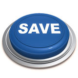 Save button. Push button with save text, savings and investment concept Royalty Free Stock Photo