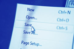 Save button Royalty Free Stock Photography