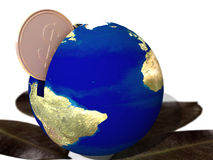 Save cash and save the planet stock image