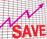 Save Chart Graph Shows Increasing Savings Royalty Free Stock Image