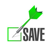 Save checkmark dart illustration design Royalty Free Stock Image