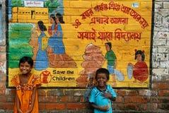 Save The Children. September 17,2012 Bantala,Kolkata,West Bengal,India,Asia-Children playing in the slum of Kolkata Royalty Free Stock Photo