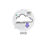 Save Cloud Computing Database Storage Services Web Icon Royalty Free Stock Images